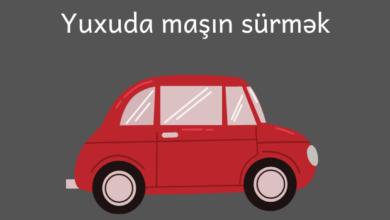 Photo of Yuxuda maşin sürmək