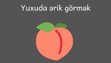 Photo of Yuxuda ərik görmək ✅