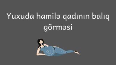 Photo of Hamile qadin yuxuda baliq gormek